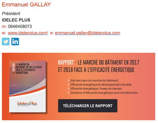 signature mail idelecplus électricité Lyon